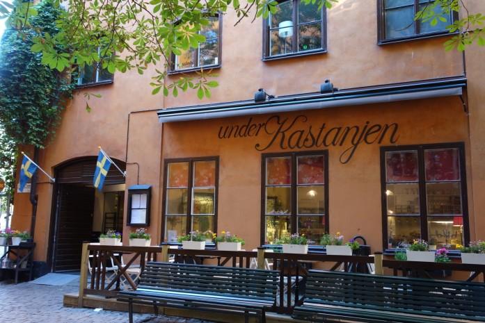 Under Kastanjen- ravintola Tukholmassa